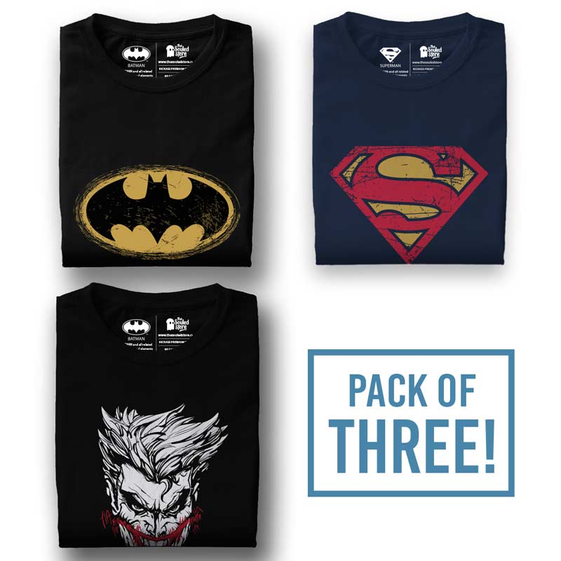 7e200310e7 Pack Of Three  DC Comics