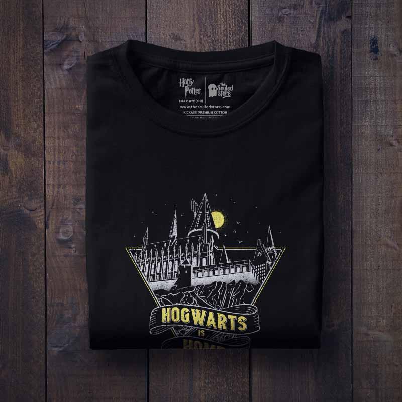 70e456d80518 Buy Buy Official Harry Potter Hogwarts Is Home T-shirts For Men   Women  Online
