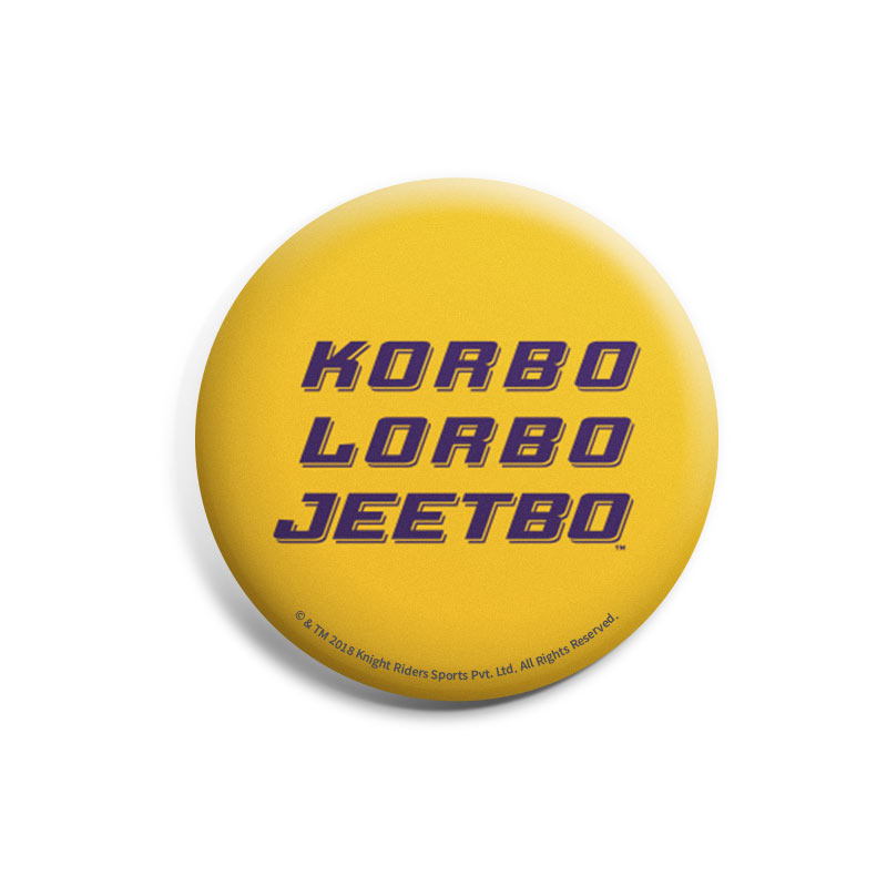 Korbo Lorbo Jeetbo | Kolkata Knight Riders Badges | The Souled Store