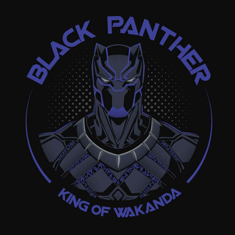 3d31c4cb449f Buy Buy Official Marvel Black Panther King Of Wakanda T-shirts For Men &  Women