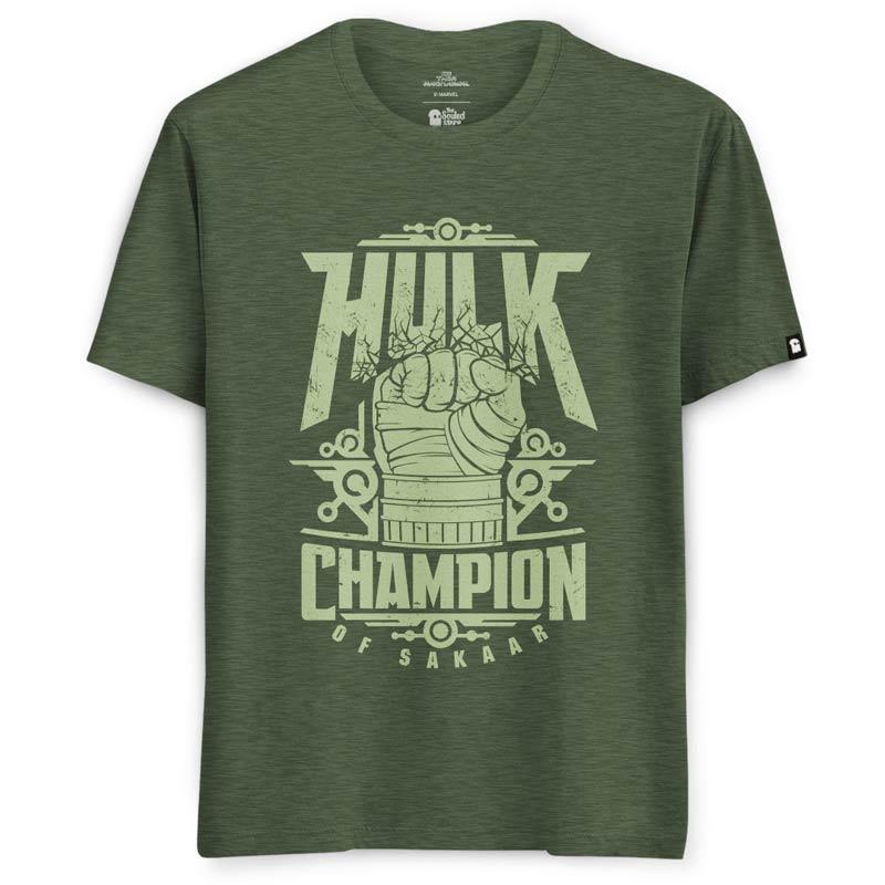 f15bda215671 Buy Official Marvel Hulk Champion Of Sakaar T-shirts For Men   Women ...