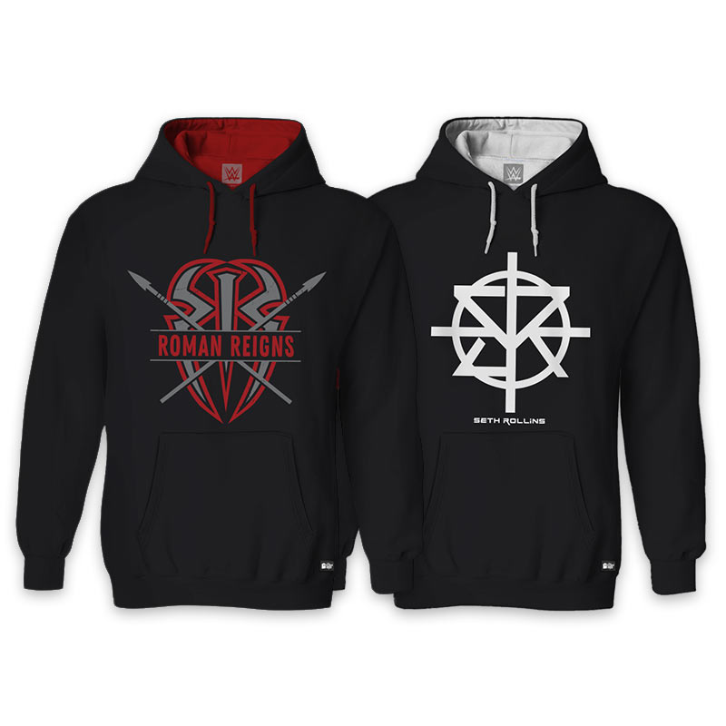 6bfdcc8ffe491 Pack Of Two  Roman Reigns   Seth Rollins. Hoodies