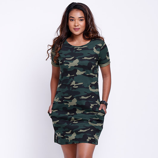 08c1196679c Buy Buy Camo Print Pattern T-shirt Dress Online only at The Souled Store