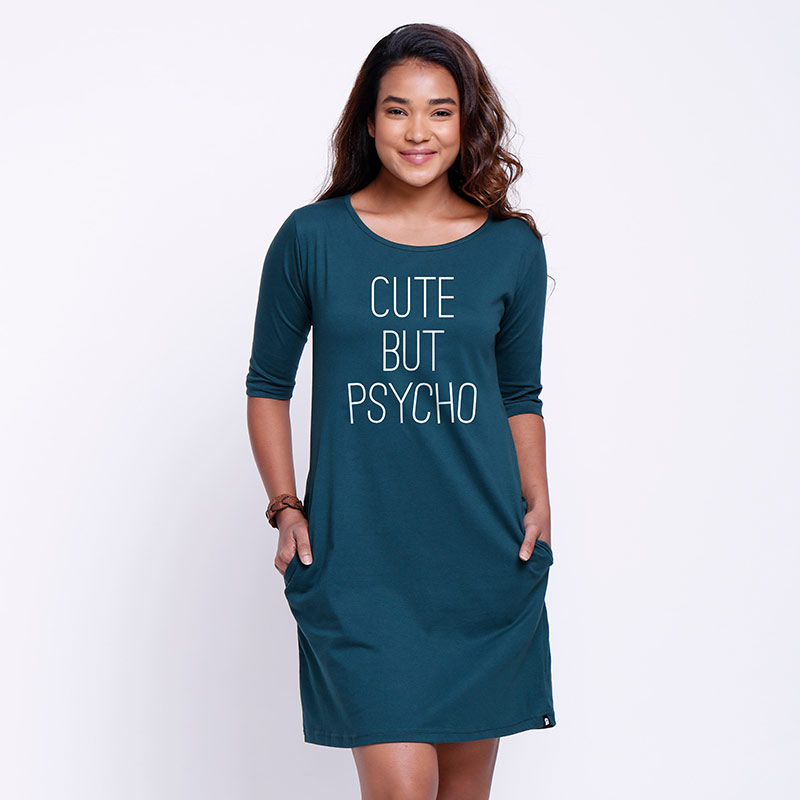 c295747edf1 Buy Buy Cute But Psycho T-shirt Dress Online only at The Souled Store