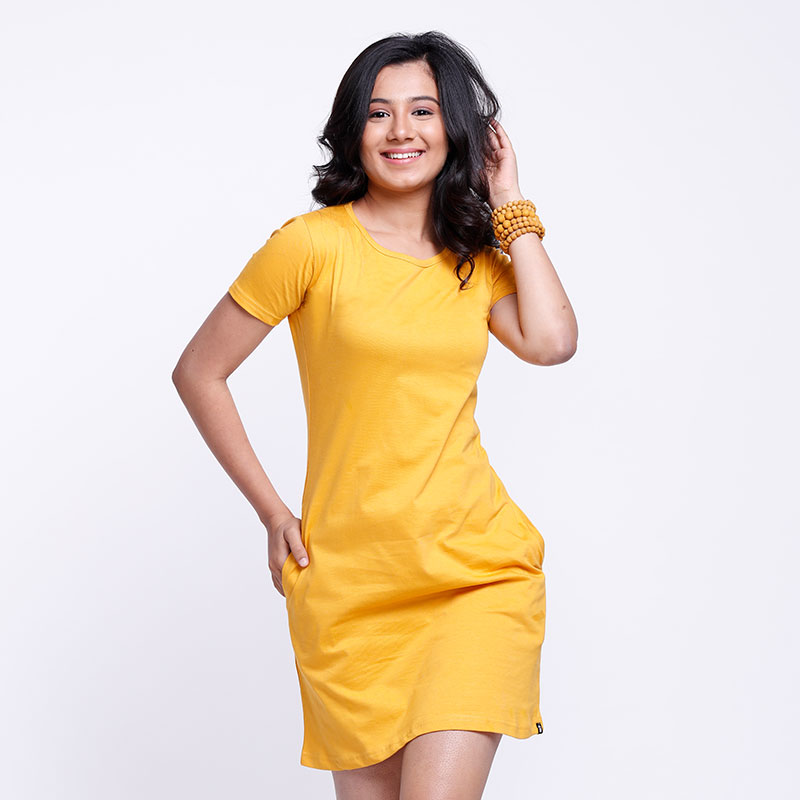 54d3fa3befcc Buy Casual Cotton T shirt Dresses for Women Online | The Souled Store