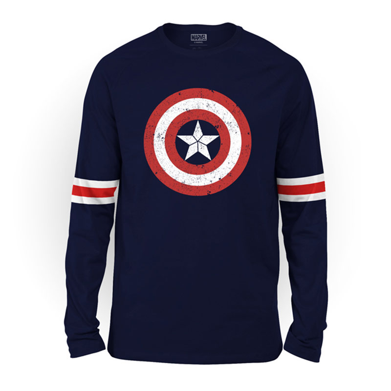 5c35c4e8 Buy Buy Official Marvel Captain America Logo Striped Full Sleeve T-shirt  Online only at