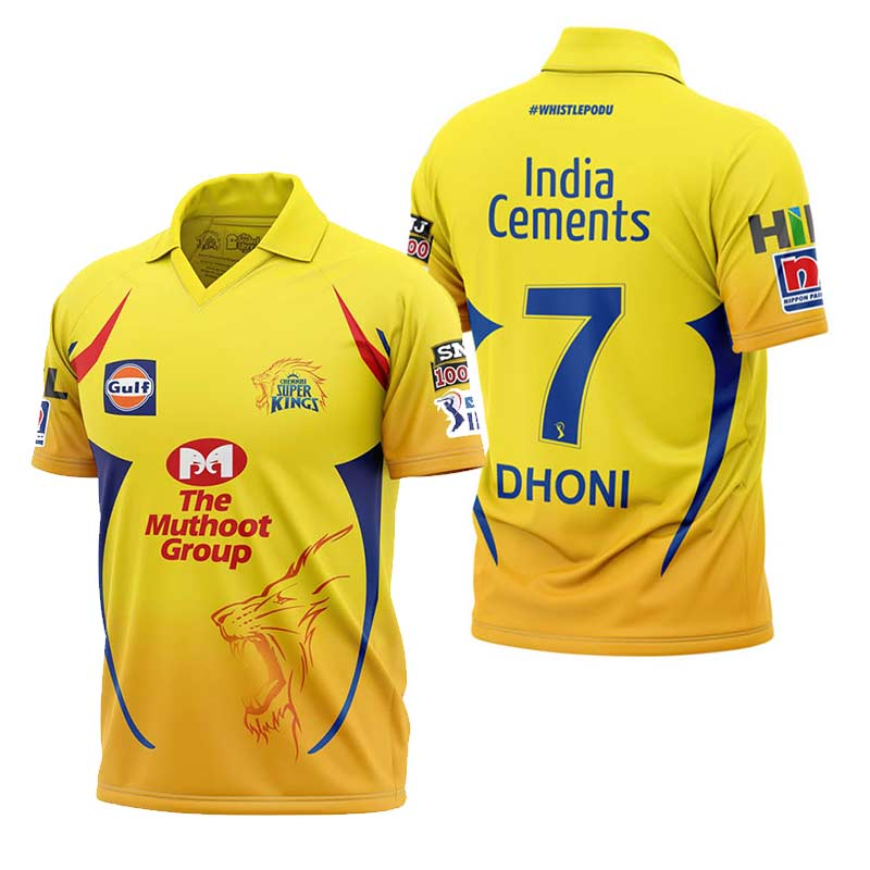 b961e1adf4e Buy Official Chennai Super Kings Jersey And Other IPL Merchandise ...