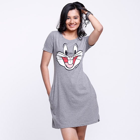 34c4fb945d0 Buy Buy Official Looney Tunes Bugs T-shirt Dress Online only at The Souled  Store