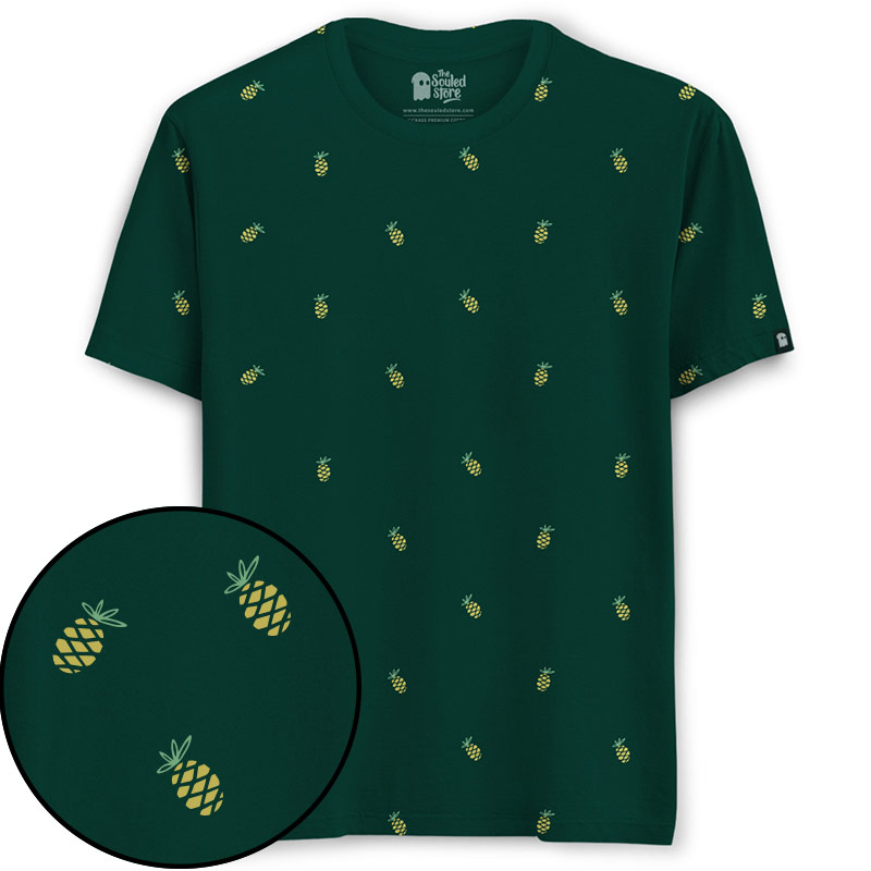 02a2fcb8 Pineapple Pattern. T-Shirts