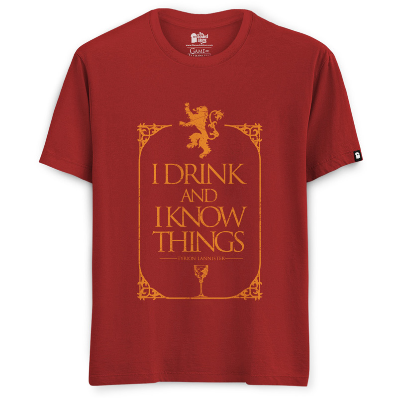 405572bd6e1 Buy Buy Official Game Of Thrones I Drink And I Know Things T-shirt Online